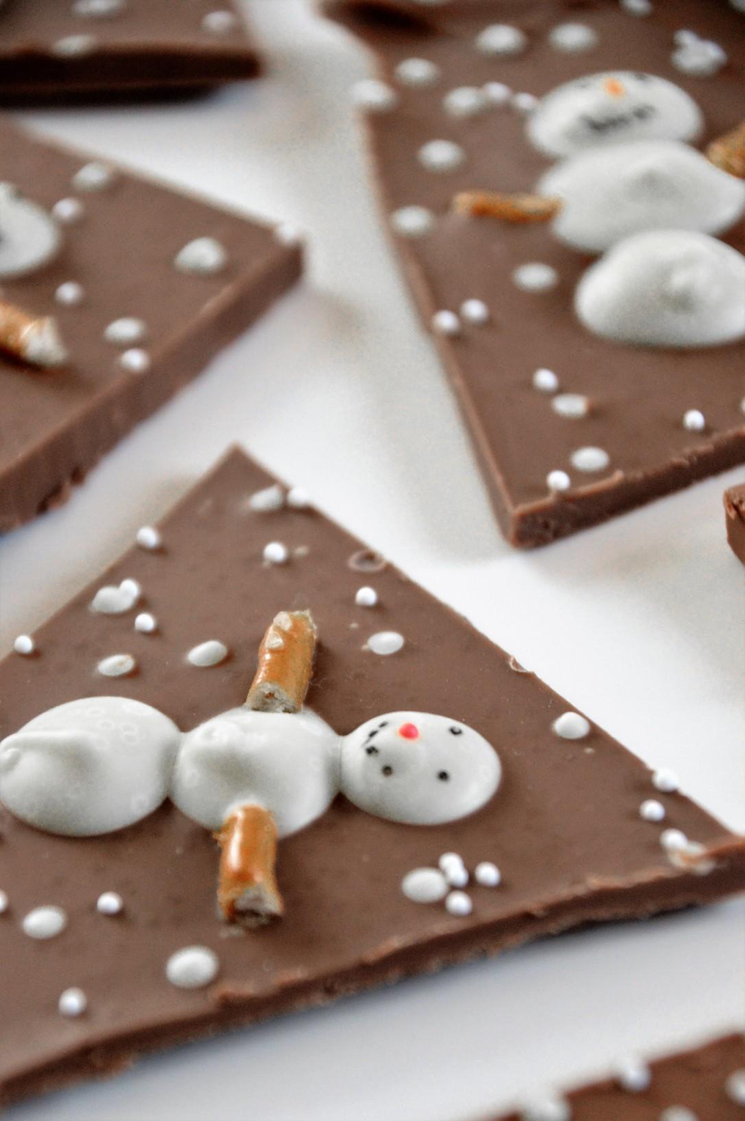 Schneemann-Schokolade